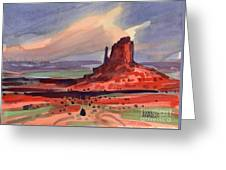 Left Mitten At Sunset Greeting Card