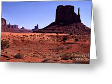 Left Mitten Monument Valley Navajo Tribal Park Greeting Card