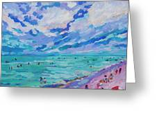 Left Panel Of Triptych Busy Relaxing Greeting Card