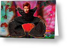 Legend Of Bowie  Greeting Card