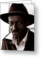 Legendary Bluesman And Folk Artist James Son Thomas Greeting Card