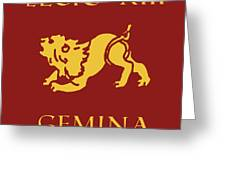 Legio Xiii Gemina Greeting Card