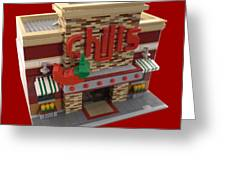 Lego Chili's Restaurant Greeting Card
