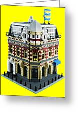 Lego Corner Shop And Apartments Greeting Card