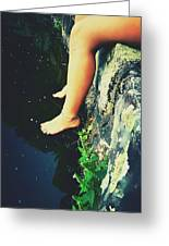 Legs Over Water Greeting Card