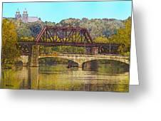 Lehigh River - Easton Pa Greeting Card