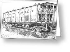 Lehigh Valley Coal Car Greeting Card