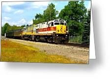 Lehigh Valley/ Lackawanna Engines Greeting Card