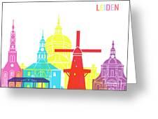 Leiden Skyline Pop Greeting Card