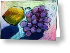 Lemon And Grapes Greeting Card