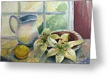 Lemon And Lillies Greeting Card