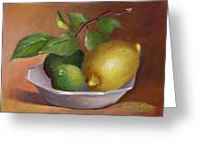 Lemon And Limes Still Life Greeting Card