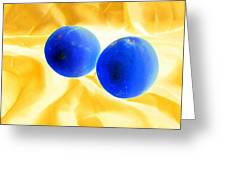 Lemon Blue Greeting Card