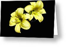 Lemon Lilies Greeting Card