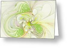 Lemon Lime Curly Greeting Card