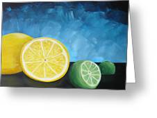 Lemon Lime Greeting Card