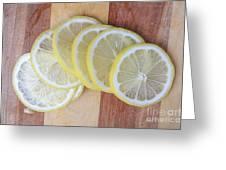 Lemon Slices On Cutting Board Greeting Card