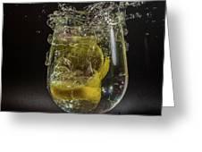 Lemon Spash Greeting Card