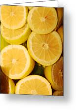 Lemon Still Life Greeting Card