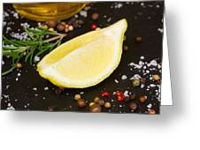 Lemon With Spices  Greeting Card
