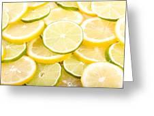 Lemons And Limes Abstract Greeting Card