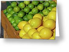 Lemons And Limes At Market Greeting Card