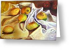 Lemons And Linen Greeting Card