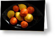 Lemons And Oranges On A Platter Greeting Card