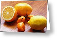 Lemons And Peppers Greeting Card