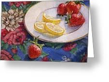 Lemons N Berries Greeting Card