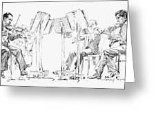 Lener String Quartet Greeting Card by Granger