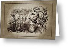 L'enfant Et Le Lion  Greeting Card