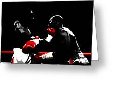 Lennox Lewis And Evander Holyfield  Greeting Card