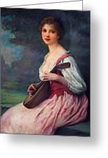 Lenoir Charles La Mandoline Greeting Card