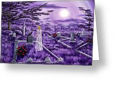 Lenore In Lavender Moonlight Greeting Card