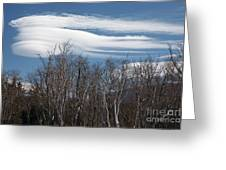 Lenticular Clouds - White Mountains New Hampshire  Greeting Card