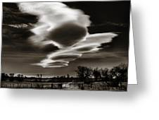 Lenticular Clouds Of Colorado Greeting Card