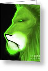 Leo Profile- Lime Greeting Card