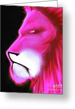 Leo Profile- Radiant Hot Pink Greeting Card