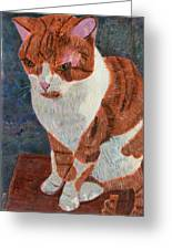 Leo The Cat Greeting Card