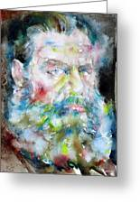 Leo Tolstoy - Watercolor Portrait.6 Greeting Card