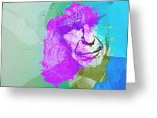 Leonard Cohen 3 Greeting Card by Naxart Studio