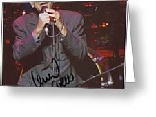 Leonard Cohen Autographed Greeting Card