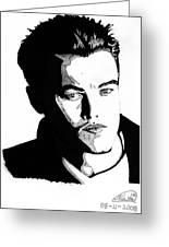 Leonardo Dicaprio Portrait Greeting Card