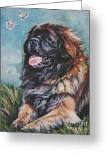 Leonberger Art Print Greeting Card