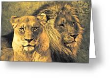 Leones Greeting Card