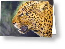 Leopard Greeting Card by Crispin  Delgado