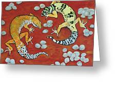 Leopard Geckos Greeting Card