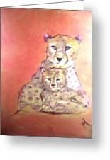 Leopard Love Greeting Card