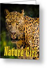 Leopard Nature Girl Greeting Card